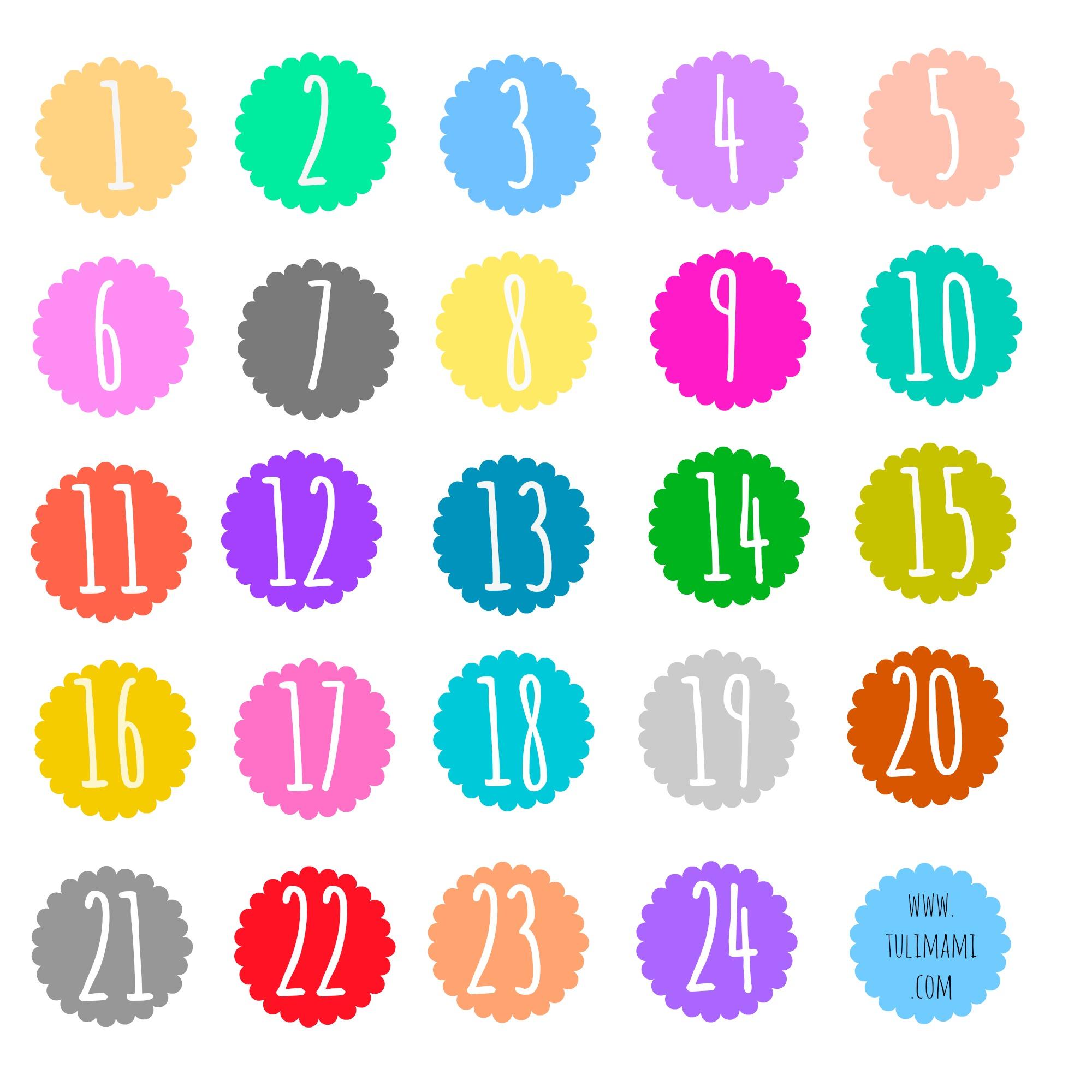 spesso Advent calendar: free printable • Tulimami KZ33
