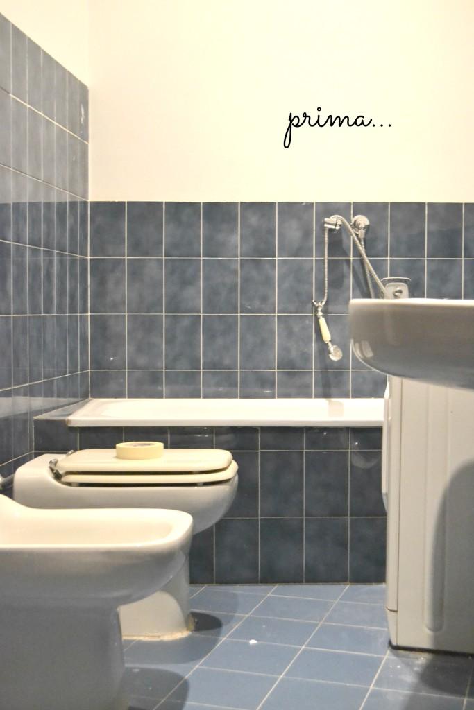 Il bagno ex brutto tulimami - Rinnovare bagno senza togliere piastrelle ...
