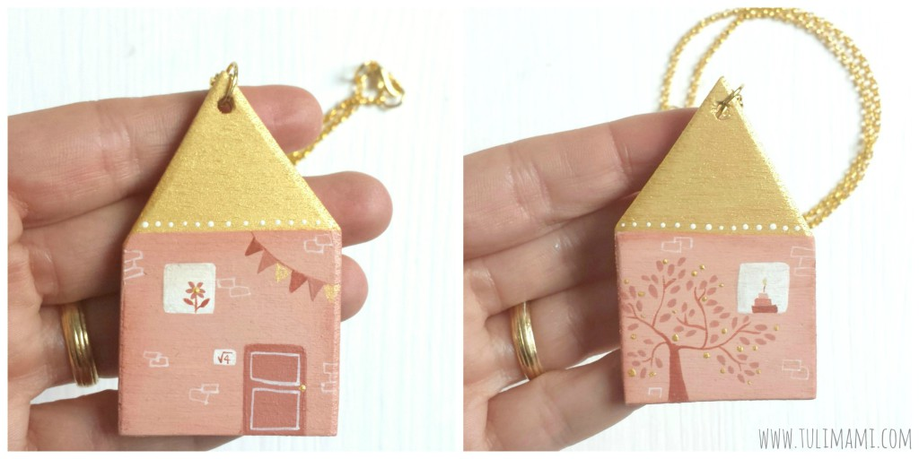 casa rosa fronte e retro