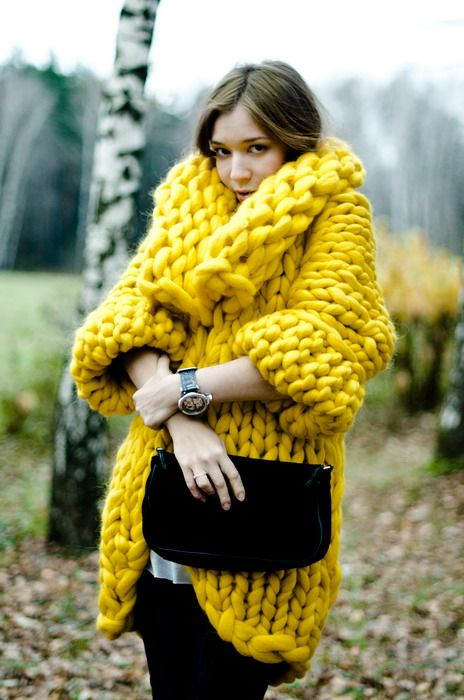 maglioncione giallo