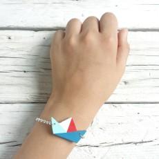 bracciale barchetta rosso blu