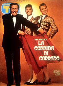CORRADO MANTONI copertina sorrisi 1986 corrado
