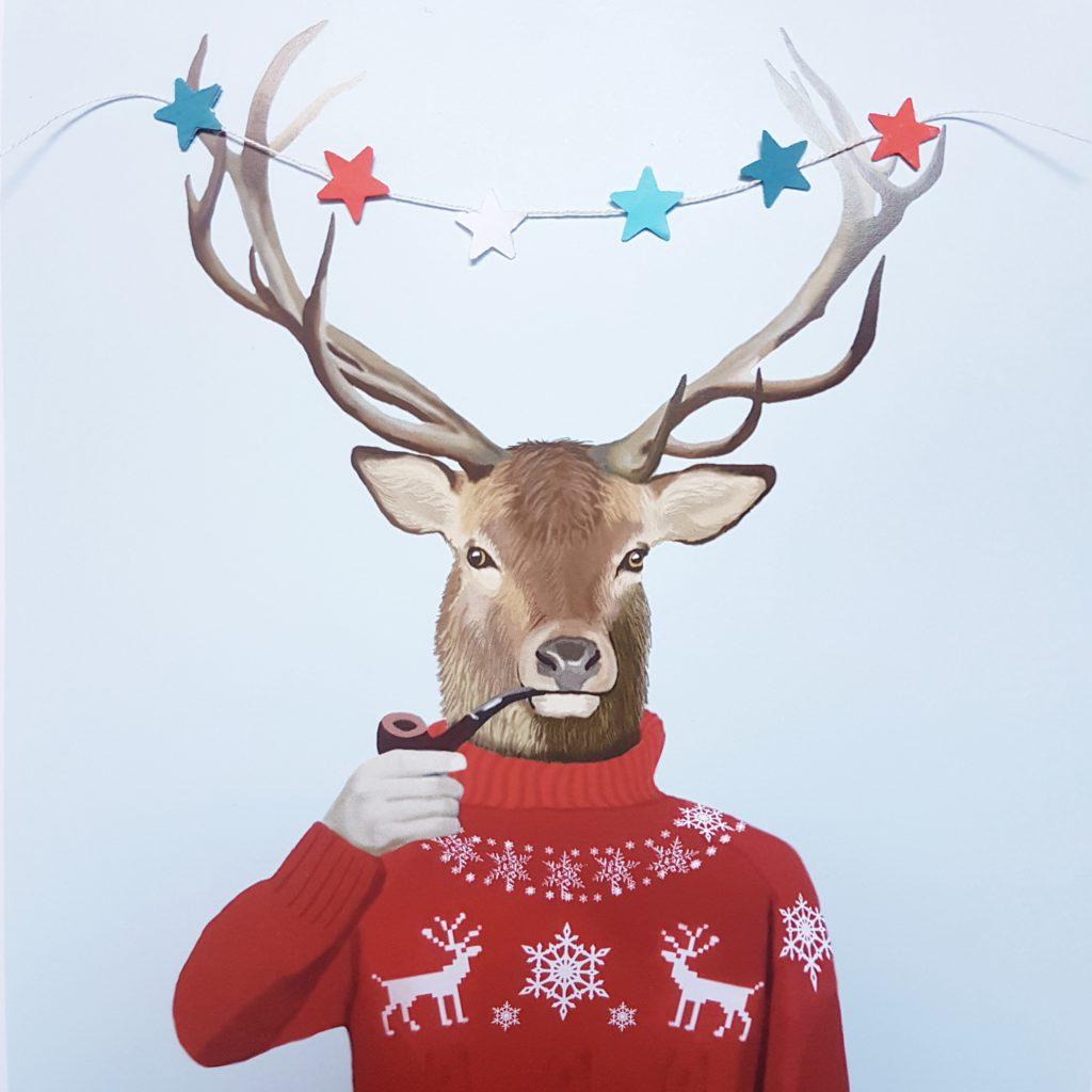 Natale cervo maglione porta tuli