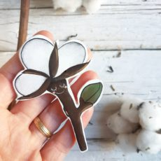fiore di cotone spilla