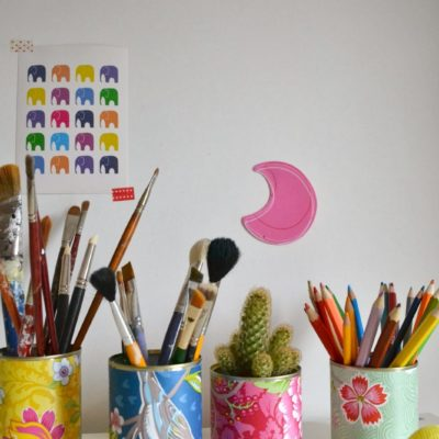 WednesDIY: wallpaper and cans