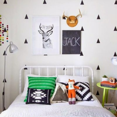 Wall decor: decorare le pareti con i triangoli