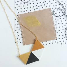 collana geometrica oro rame