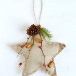 Christmas DIY: stella di lino imbottita