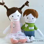 Bambole: fratellino e sorellina