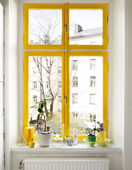 finestra gialla