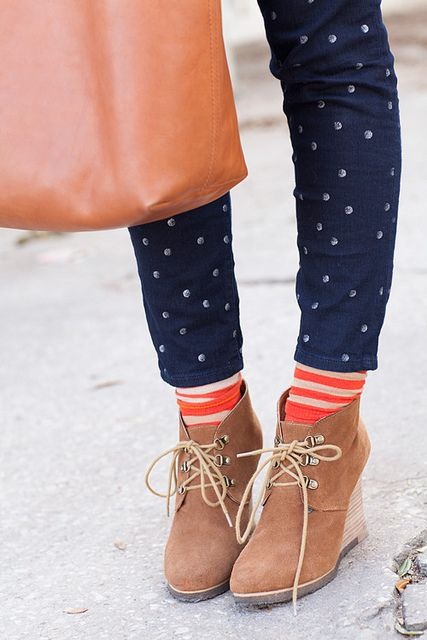 dotted jeans