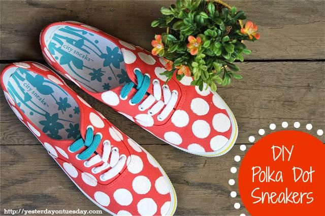 dotted sneakers