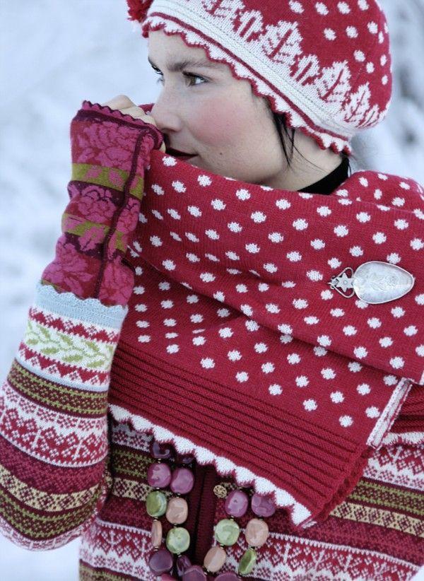 maglioncione rosso nordico
