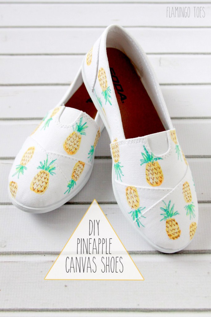 DIY-Pineapple-Canvas-Shoes