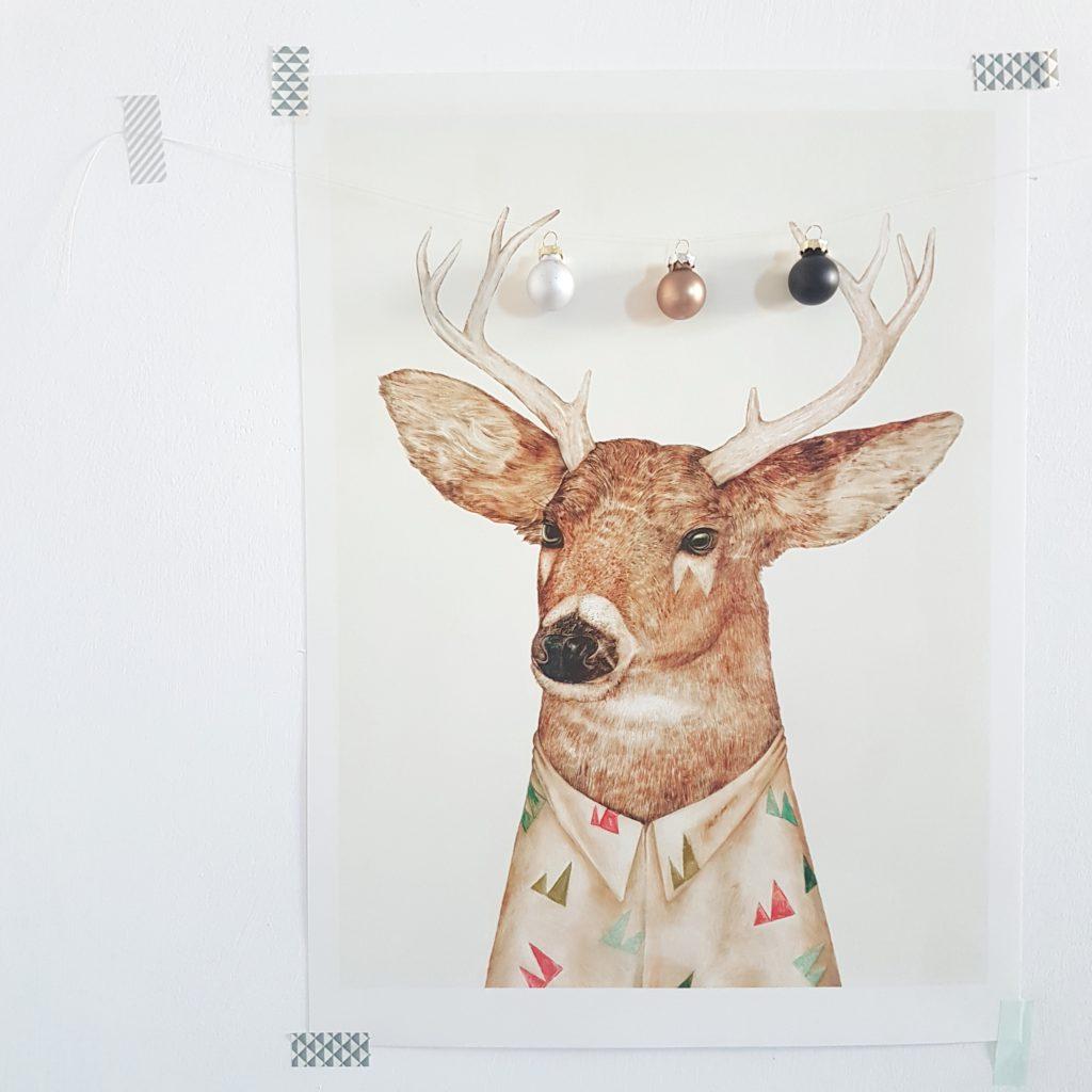 Natale tuli cervo palline