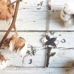 fiore di cotone collana retro